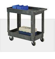 Plastic Tray Shelf Service Utility Carts