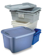 Plastic Storage Containers, Boxes and Bins