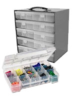 Compartment Boxes, Stackbins, Cases and Organizers