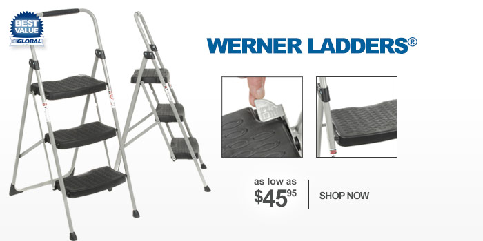 Werner Ladders® - as low as $45.95