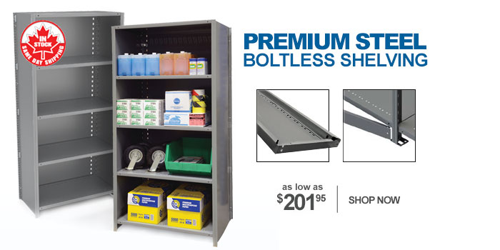 Metalware Premium Steel Closed-Style Boltless Shelving - as low as $201.95