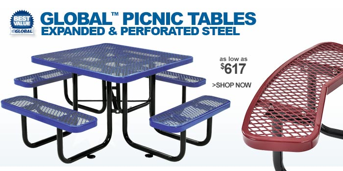Global™ Picnic Tables - as low as $617