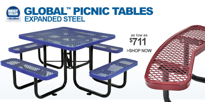 Global™ Picnic Tables - as low as $711