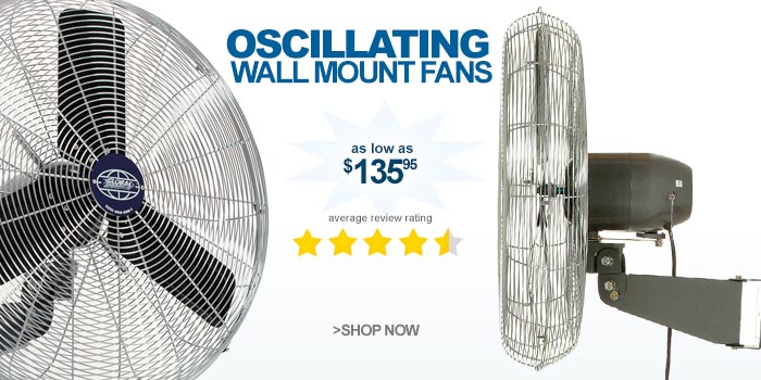 Oscillating Wall Mount Industrial Fans - as low as $135.95